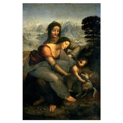 Virgin and Child with St. Anne, c.1510 (oil on pan Framed Print