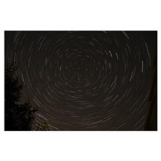 Star Trails around Polaris in the constellation Ur Poster