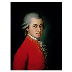 Wolfgang Amadeus Mozart, 1818 (oil on canvas) Framed Print