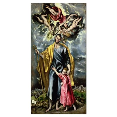 St. Joseph and the Christ Child, 1597-99 (oil on c Poster
