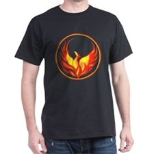 Stylish Phoenix Black T-Shirt