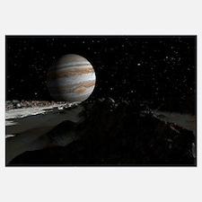 Ice ridges on Jupiters moon, Europa