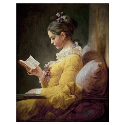 Young Girl Reading, c.1776 (oil on canvas) Poster