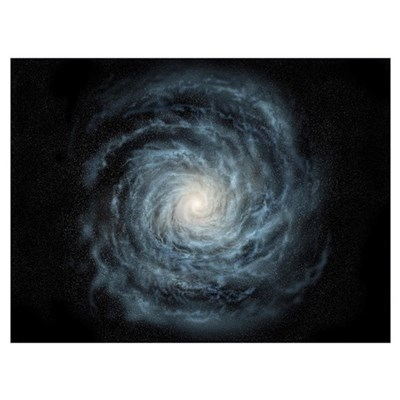 Artists concept of a face on view of our galaxy, t Canvas Art