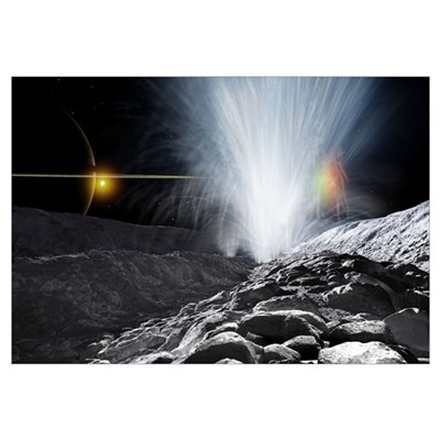 The Ice Fountains of Enceladus Poster