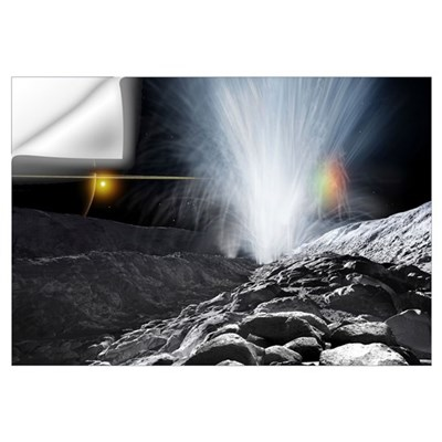 The Ice Fountains of Enceladus Wall Decal