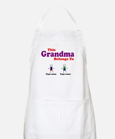 Personalized Grandma 2 boys Apron