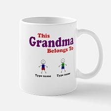 Personalized Grandma 2 boys Mug
