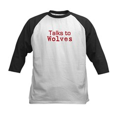 Talks to Wolves Kids Baseball Jersey