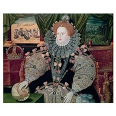 Elizabeth I, Armada Portrait, c.1588 (oil on panel Framed Print