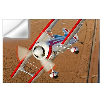 A Pitts Model 12 biplane in flight Wall Decal
