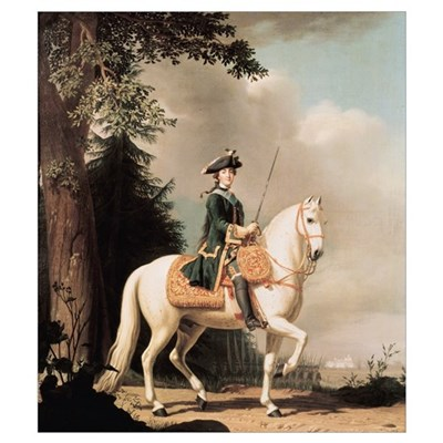 Equestrian Portrait of Catherine II (1729-96) the Poster