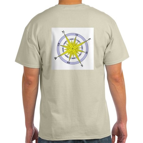 Compass Rose Ash Grey T-Shirt