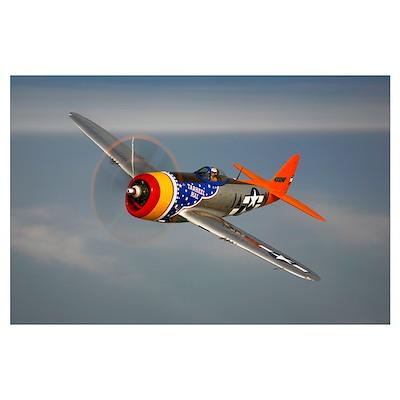 A Republic P 47D Thunderbolt in flight Poster