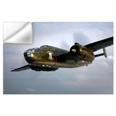 A North American B 25 Mitchell in flight Wall Decal