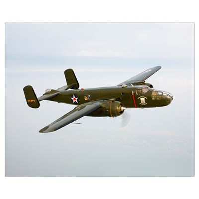 A North American B 25 Mitchell in flight Framed Print