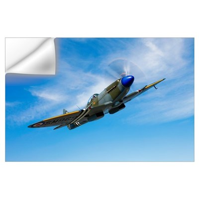 A Supermarine Spitfire Mk 18 in flight Wall Decal