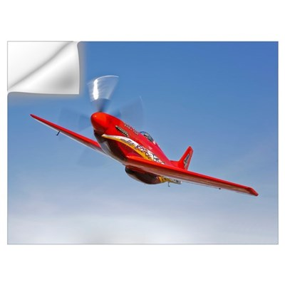 A Dago Red P 51G Mustang in flight Wall Decal
