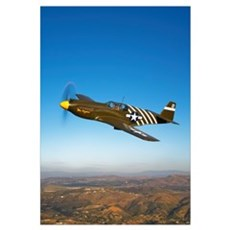 A P 51A Mustang in flight Poster