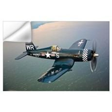 A Vought F4U 5 Corsair in flight Wall Decal