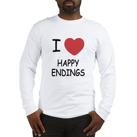 I heart happy endings Long Sleeve T-Shirt
