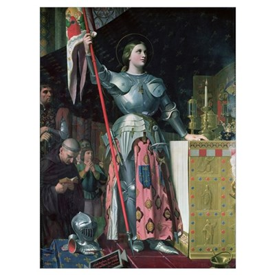 Joan of Arc (1412-31) at the Coronation of King Ch Framed Print