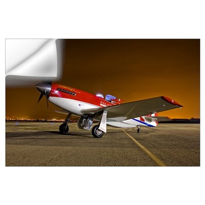 Strega, a highly modified P 51D Mustang racer Wall Decal