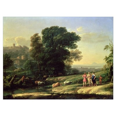 Landscape with Cephalus and Procris Reunited by Di Poster