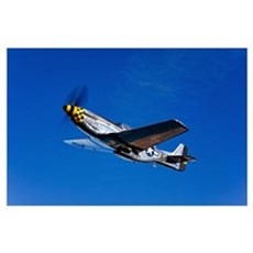 A P 51D Mustang Kimberly Kaye in flight Poster