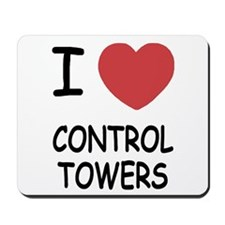 I heart control towers Mousepad
