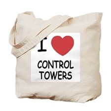 I heart control towers Tote Bag