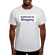 Addicted to Blogging Ash Grey T-Shirt