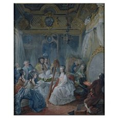 Marie Antoinette (1755-93) in her chamber at Versa Framed Print