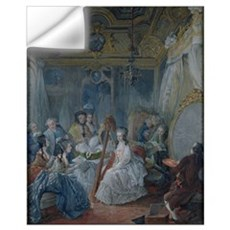 Marie Antoinette (1755-93) in her chamber at Versa Wall Decal