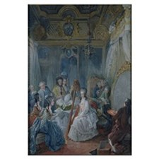 Marie Antoinette (1755-93) in her chamber at Versa