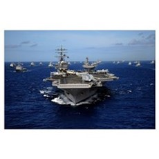 Aircraft carrier USS Ronald Reagan Poster