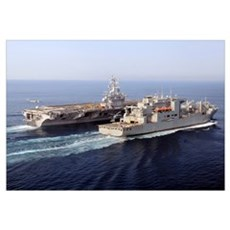 The Military Sealift Command dry cargo and ammunit Canvas Art
