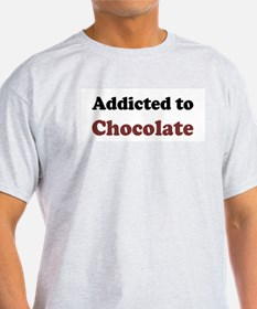 Addicted to Chocolate Ash Grey T-Shirt