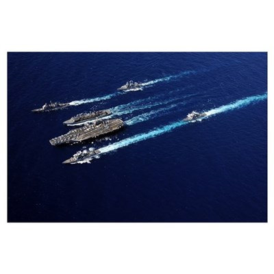 The Abraham Lincoln Carrier Strike Group ships cru Poster