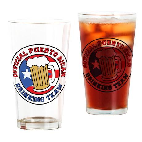 Puerto Rican Drinking Team Drinking Glass