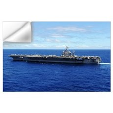 The aircraft carrier USS Abraham Lincoln transits Wall Decal