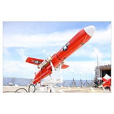 A BQM 74E Chukar drone ready for launch Poster