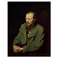 Portrait of Fyodor Dostoyevsky (1821-81) 1872 (oil Poster