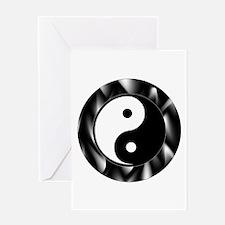 Yin Yang Symbol Greeting Card