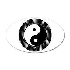 Yin Yang Symbol 22x14 Oval Wall Peel