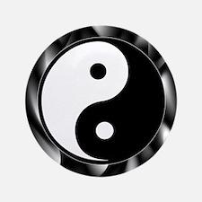 "Yin Yang Symbol 3.5"" Button"