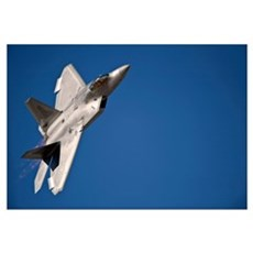 An F 22 Raptor aircraft performs during Aviation N Canvas Art