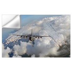An AC 130U gunship jettisons flares over Florida Wall Decal