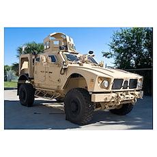 An Oshkosh M ATV Mine Resistant Ambush Protected a Poster