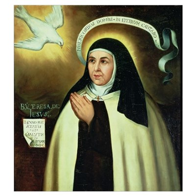 St. Theresa of Avila (1515-82) 1570 (oil on canvas Poster